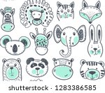 seamless pattern with cute... | Shutterstock .eps vector #1283386585