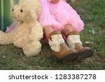 Child In Tutu And Cowboy Boots...