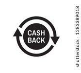 cash back money refound   black ... | Shutterstock .eps vector #1283389018