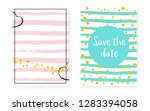 bridal shower card with dots... | Shutterstock .eps vector #1283394058
