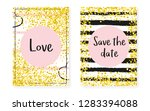 gold glitter sequins with dots. ... | Shutterstock .eps vector #1283394088