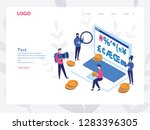 cryptography  digital currency  ... | Shutterstock .eps vector #1283396305