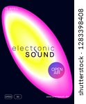 music poster. electronic sound. ... | Shutterstock .eps vector #1283398408