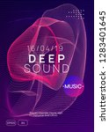 trance party. curvy show cover... | Shutterstock .eps vector #1283401645