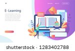 e learning concept for web page ... | Shutterstock .eps vector #1283402788