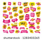sales banner. super mega... | Shutterstock .eps vector #1283403265