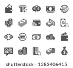 money icons. set of banking ... | Shutterstock .eps vector #1283406415