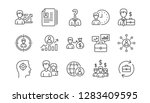 human resources icons. head... | Shutterstock .eps vector #1283409595