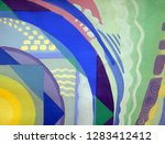 abstract texture. oil  acrylic... | Shutterstock . vector #1283412412