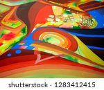 abstract texture with church.... | Shutterstock . vector #1283412415