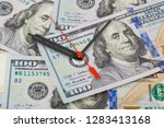 time is money   business... | Shutterstock . vector #1283413168