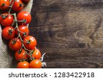 branch with fresh cherry...   Shutterstock . vector #1283422918