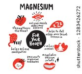magnesium. for your health.... | Shutterstock .eps vector #1283426272
