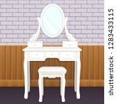 dressing table with mirror with ... | Shutterstock .eps vector #1283433115