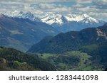 beautiful top view of high snow ...   Shutterstock . vector #1283441098