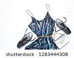 brilliant fashion look. dress... | Shutterstock . vector #1283444308
