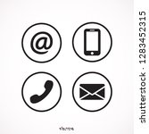 communication icons in the... | Shutterstock .eps vector #1283452315