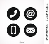 communication icons in the... | Shutterstock .eps vector #1283452318