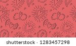 heart seamless pattern. vector... | Shutterstock .eps vector #1283457298
