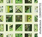 seamless vector pattern.... | Shutterstock .eps vector #1283459722
