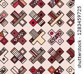 seamless vector pattern.... | Shutterstock .eps vector #1283459725