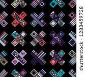 seamless vector pattern.... | Shutterstock .eps vector #1283459728