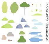 trees  plants  flowers ... | Shutterstock .eps vector #1283460778