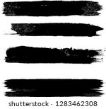 grunge paint stripe . vector... | Shutterstock .eps vector #1283462308