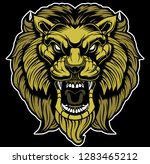 lion head illustration | Shutterstock .eps vector #1283465212