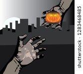 halloween vector illustration | Shutterstock .eps vector #1283468485