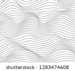wave lines pattern abstract... | Shutterstock .eps vector #1283474608