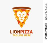 Pizza Lion Logo Design