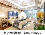 circular futuristic interface... | Shutterstock . vector #1283490232