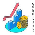 line isometric illustration of... | Shutterstock .eps vector #1283491285