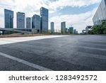 panoramic skyline and modern... | Shutterstock . vector #1283492572