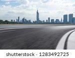 panoramic skyline and modern... | Shutterstock . vector #1283492725