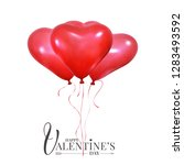 valentines day holiday balloons.... | Shutterstock .eps vector #1283493592