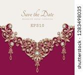 vintage jewellery background...   Shutterstock .eps vector #1283498035