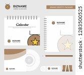 medal logo  calendar template ... | Shutterstock .eps vector #1283500525
