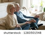 grey haired aged healthy... | Shutterstock . vector #1283501548