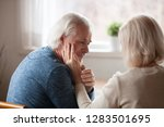 sad loving couple wife and...   Shutterstock . vector #1283501695