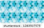 seamless honeycomb pattern.... | Shutterstock .eps vector #1283507575