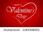 valentines day greeting card... | Shutterstock . vector #1283508502