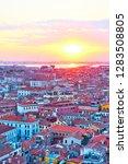 venice from above at sundown ...   Shutterstock . vector #1283508805