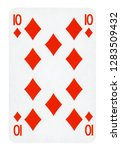 ten of diamonds playing card  ... | Shutterstock . vector #1283509432