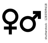 male and female gender symbol.... | Shutterstock .eps vector #1283509618