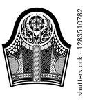 tattoo maori style.ethnic... | Shutterstock .eps vector #1283510782