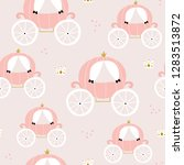 childish seamless pattern with... | Shutterstock .eps vector #1283513872