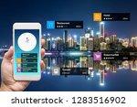 navigation information... | Shutterstock . vector #1283516902