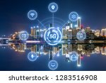 5g network wireless systems and ... | Shutterstock . vector #1283516908
